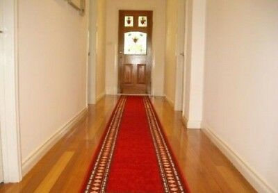 Hallway Runner Hall Runner Rug Modern Red 5 Metres Long - We Can Cut To Any Size