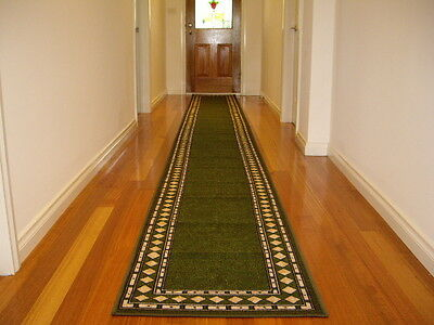 Hallway Runner Hall Runner Rug Modern Green 4 Metres Long FREE DELIVERY 16645