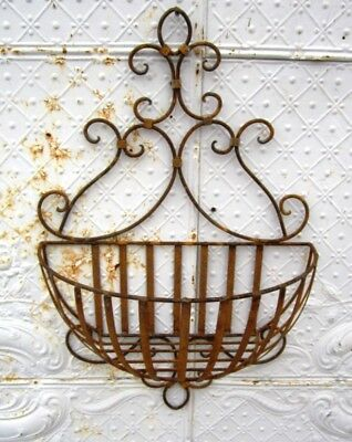 Wrought Iron Lg Susanna Half Wall Planter Basket