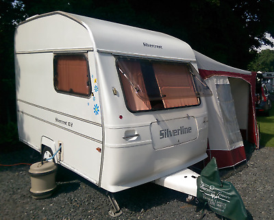 Silverline Silvercrest 10 2 Berth Caravan With Bradcot Awning Annexes