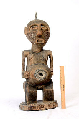 Antique African Kasongo Carved Power Figure Stunning Wood