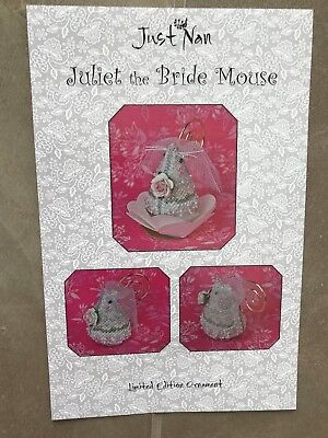 Just Nan. Juliet the Bride Mouse. Limited Edition Ornament