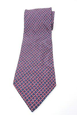 Brioni Mens Tie Purple Blue Red Geometric 100% Silk Made in Italy