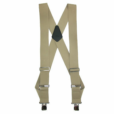 New CTM Men's Big & Tall Elastic Basic Trucker Side Clip Suspender