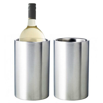 2pc David & Waddell Stainless Steel Wine Chiller Bottle Drink Ice Bucket Cooler
