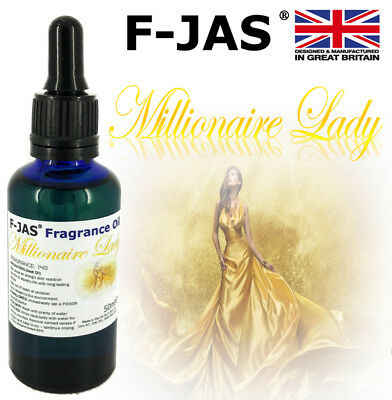 Millionaire Lady Fragrance Oil 50ml for Wax Melts with IFRA, Allergen CLP Labels