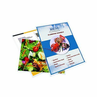 Royal Sovereign Heat Sealed Laminating Pouches 3 Mil Menu Size Clear Gloss (2...