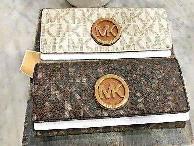 Michael Kors Fulton Continental Carryall Clutch Wallet in Classic Signature $178