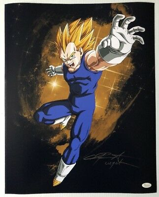 Chris Sabat Signed Autographed 16x20 Photo Dragon Ball Z Vegeta JSA COA 6