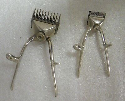 2 Vintage Hand Held Hair Clippers. No Brand #0000 and