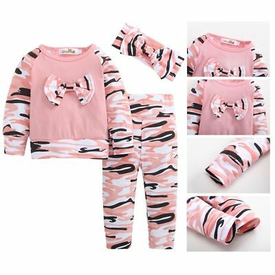 Infant Kinder Baby Langarm T-Shirt Tops+Hosen Neugeborenen Outfits Kleidung Set