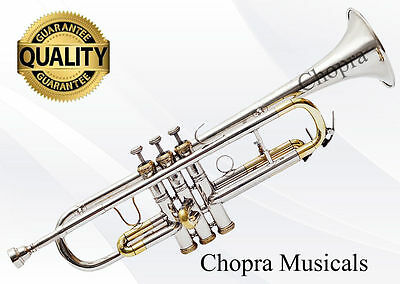 Concert Trumpet Professional 3 Valve with Hard Case+Mouth Piece Free Shipping