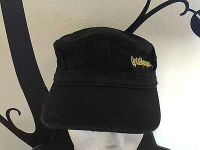 Captain Morgan Yellow/Black Military Army Cadet distressed style black hat cap