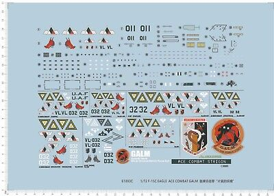 1/72 decals for EAGLE F-15C GALM (Ace Combat ZERO) (61893c)