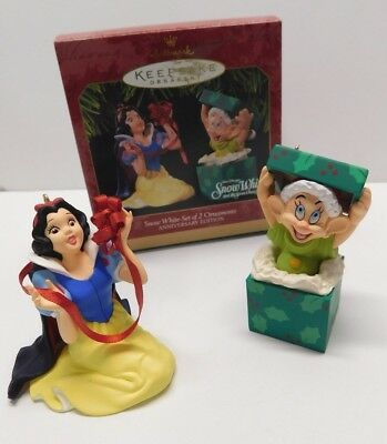 Hallmark Keepsake Ornament 1997 Snow White set of 2 * Dopey * FREE SHIPPING *