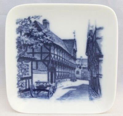 Royal Copenhagen Denmark Butter Pat/Pin Dish - No. 2985-19 - Village Street