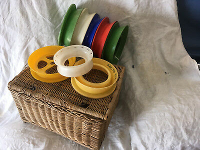 Cane Tackle Basket 50-60 Years Old Plus Hand Casters