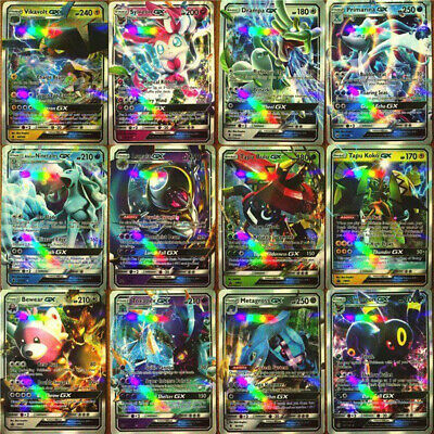 New 100pcs Lot GX + trainer Pokemon Card Flash Trading Cards GX Cards NO REPEAT!