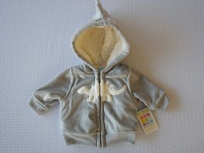 Healthtex Infant Baby Toddler Boys Grey Dinosaur Jacket Sweatshirt Fleece Hoodie