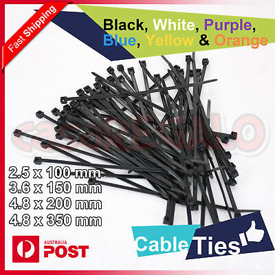 Cable Ties Zip Ties Nylon UV Stabilised Black White Yellow Orange Cable Tie
