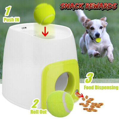 Automatic Throw Ball Dog Pet Training Fetch Tennis Launcher Machine Thrower Toy