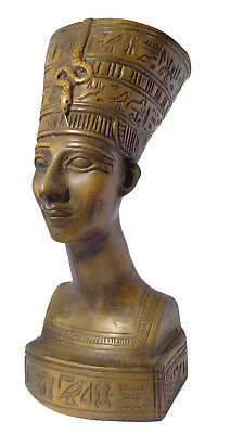 "Egyptian Queen Nefertiti Pharaoh Figurine Statue 6.6"" Ancient Sculpture (201)"