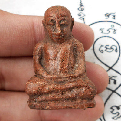 Genuine Phra LP Ngern Lucky Powerful Thai Amulet Statue Wealth Rich Talismans