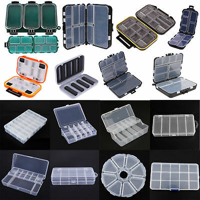 5/8/14/26 Compartments Storage Case Fishing Lure Spoon Hook Bait Tackle Box Lot