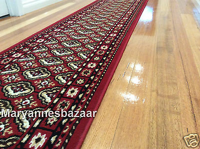 Hallway Runner Hall Runner Rug Modern Red 4 Metres Long FREE DELIVERY 171051