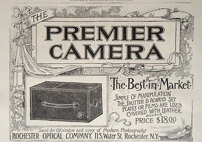 1892 Ad(1800-24)~The Premier Camera. Rochester Optical Co. Ny.
