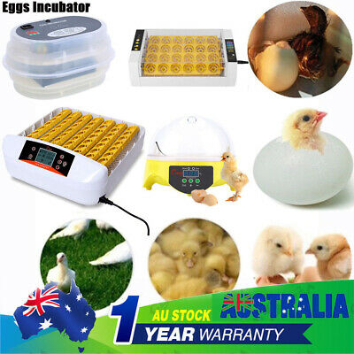 4/7/12/56 Egg Incubator Fully Automatic Digital LED Turner Poultry Chicken Duck