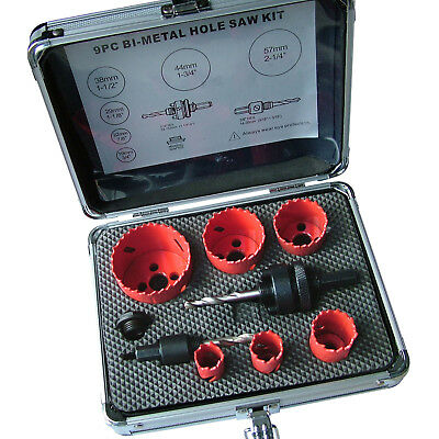 Bi Metal Hole Saw Kit for Cutting a multitude of materials. Round Hole Cutting