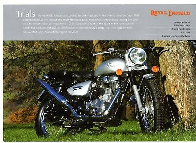 Royal Enfield Trials Motorcycle 2009 UK Market Leaflet Sales Brochure