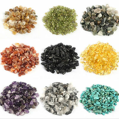 50g Natural Gravel Crystal Stone Rock Gem Chips Healing Fish Tank Aquarium