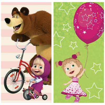 Masha and the Bear Bath Towel Beach Towel 70 x 140 Cm