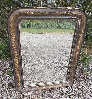 mirror antique French mirror Louis Phillipe overmantel
