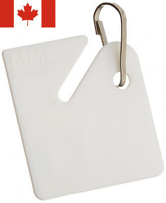 MMF Industries Slotted Rack Key Tags, Plastic, 1.5 Inch Height, White, 20...
