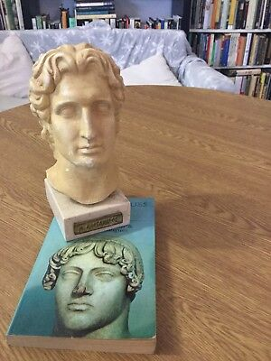 Bust of Alexander The Great On A Marble Base ,