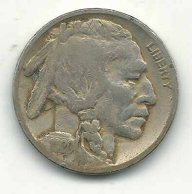 A Vintage Fine Condition 1920 P Buffalo Nickel Coin-Old Us Coin-Jan079