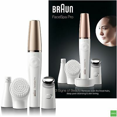 Braun Face Spa Pro 911 Epilator Facial Cleansing & Skin Toning System + 3 Extras
