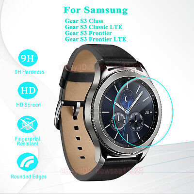 2PCS Tempered Glass Screen Film Skin For Samsung Gear S3 Classic Smart Watch