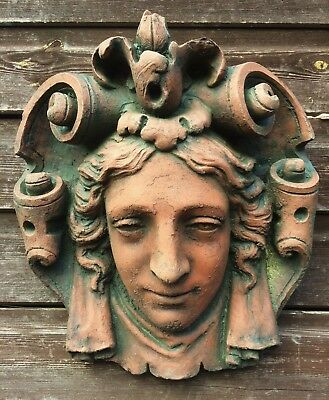 "Decorative stone Wall plaque face mask neo-classical style Mascaron ""Parisian"""