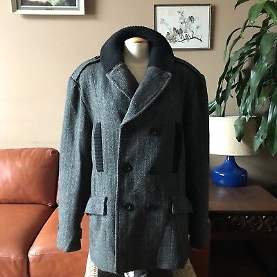 Vintage Coogi 80s Peacoat Pea Coat Naval Jacket Double Breasted Womens XL Gray