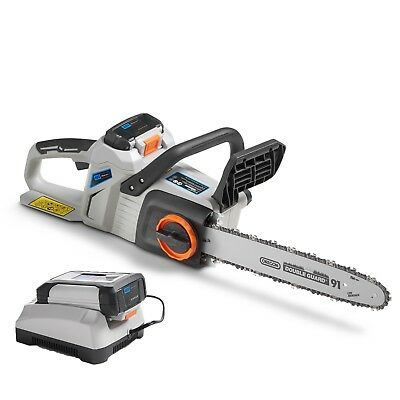 "VonHaus 40V Cordless 14"" Chainsaw with 4Ah Li-Ion Battery & Charger Kit Included"
