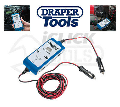 Draper 46544 12V DC Vehicle To Vehicle Car Battery Charger/Booster Cable Lead