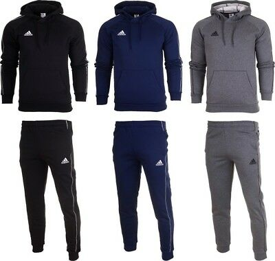 ADIDAS CORE 18 Mens Fleece Full Tracksuit Hoodie Top Bottom Pants Training SM2XL