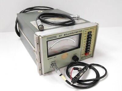 Boonton Model 92A RF Millivoltmeter in Working Condition w/ Probes SN 1710