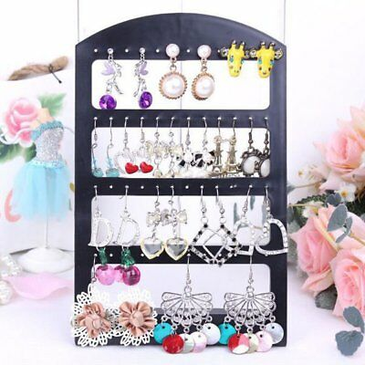 48 Holes Earrings Jewelry Show Plastic Display Stand Organizer Holder Showcase