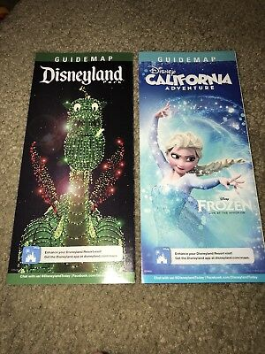 New Disneyland Map Guides Electrical Parade /& Guardians of The Galaxy June 2017