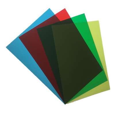 4x A5 Assorted Coloured Overlays -Visual Stress Dyslexia Reading Aid PVC Sheets
